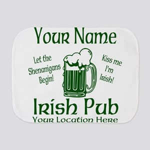 Custom Irish pub Burp Cloth