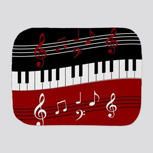 Stylish Piano keys and musical notes Burp Cloth