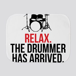 Relax Drummer Has Arrived Burp Cloth