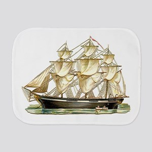 Father's Day Classic Tall Ship Burp Cloth