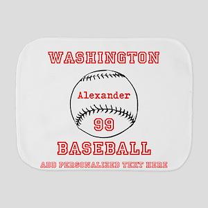 ade1e51a56280 Baseball Player Burp Cloths - CafePress