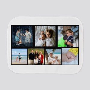 7 Photo Family Collage Burp Cloth