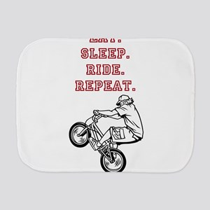 Eat, Sleep, Ride, Repeat Burp Cloth