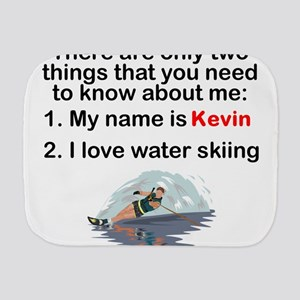 Two Things Water Skiing Burp Cloth