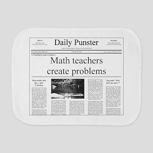 Teacher Puns Burp Cloths - CafePress