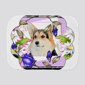 Easter Tricolor Corgi Burp Cloth