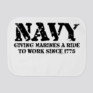 NAVY Burp Cloth