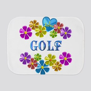 I Love Golf Burp Cloth