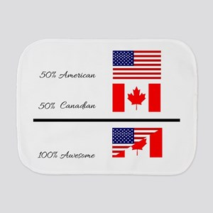 Half Canadian Half American completely Burp Cloth