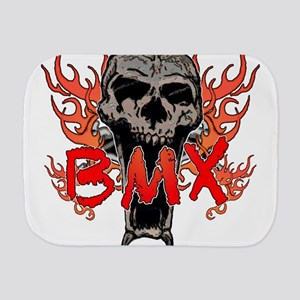 BMX skull 2 Burp Cloth