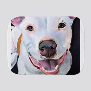 Pitbull Art Burp Cloths - CafePress