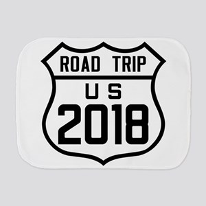 Road Trip US 2018 Burp Cloth