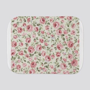 Shabby Sweet Petite Pink Roses Burp Cloth