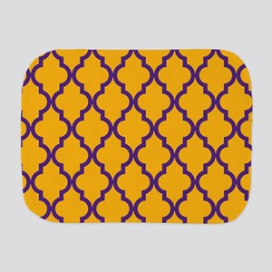 Moroccan Quatrefoil Pattern: Gold & Pur Burp Cloth
