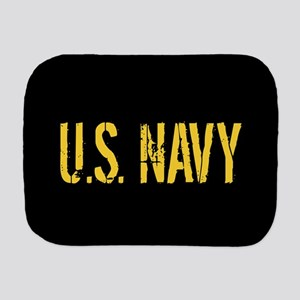 U.S. Navy: Black & Gold Burp Cloth