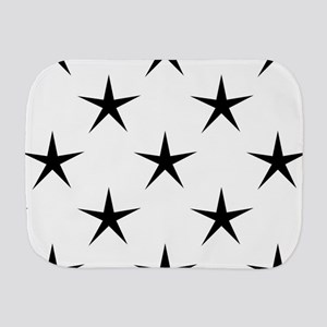 White and Black Star Pattern Burp Cloth