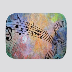 Abstract Music Burp Cloth