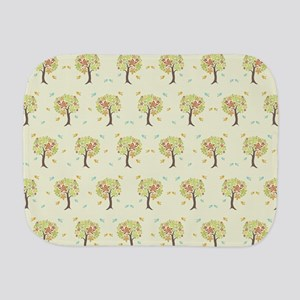 Pattern of trees and birds Burp Cloth