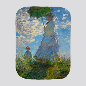 Woman with A Parasol by Claude Monet Burp Cloth