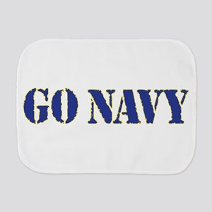 Go Navy Burp Cloth