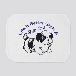BETTER WITH SHIH TZU Burp Cloth