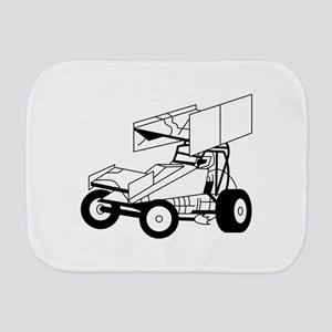 Sprint Car Outline Burp Cloth
