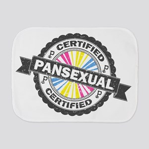 Certified Pansexual Stamp Burp Cloth