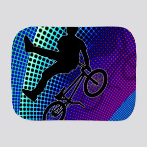 BMX in Fractal Movie Marquee Burp Cloth