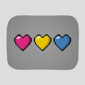 Pansexual Pixel Hearts Burp Cloth