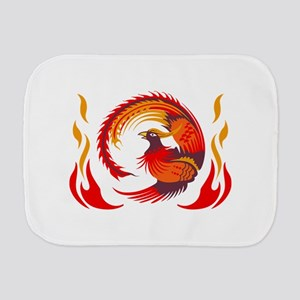 PHOENIX RISING FROM FLAMES Burp Cloth