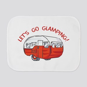 LETS GO GLAMPING Burp Cloth