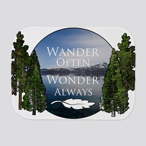 Wander Often Wonder Always Burp Cloth