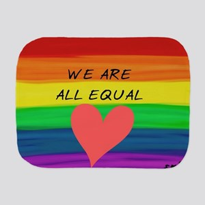 We are all equal heart Burp Cloth