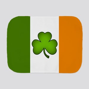 Irish Flag Shamrock Burp Cloth
