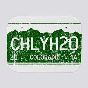 Chilly Water Colorado License Plate DIS Burp Cloth