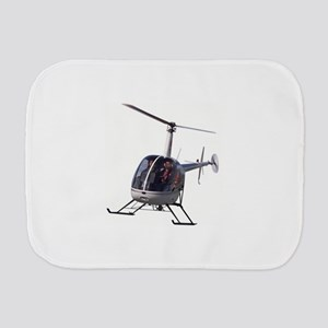 Helicopter Flying Aviation Burp Cloth