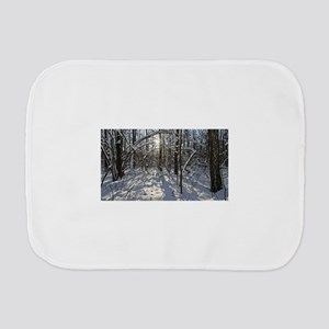 Winter Forest Burp Cloth