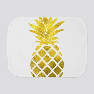 Faux Gold Foil Pineapple Burp Cloth