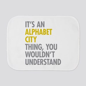 Alphabet City Thing Burp Cloth