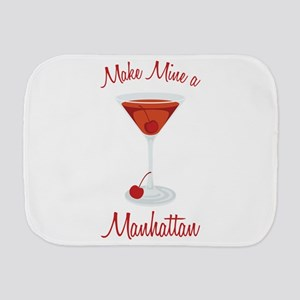 Make Mine a Manhattan Burp Cloth