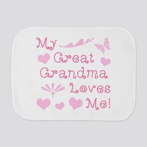 GreatGrandma Loves Me Burp Cloth