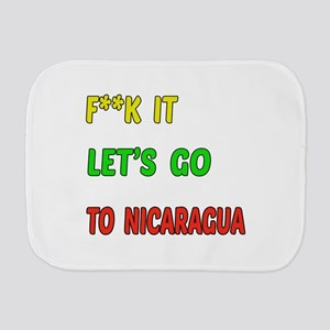 Let's go to Nicaragua Burp Cloth