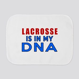 Lacrosse Is In My DNA Burp Cloth