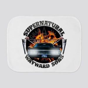 Supernatural Wayward Sons silver Burp Cloth
