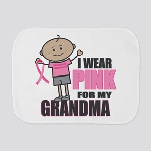 I Wear Pink Grandson Burp Cloth