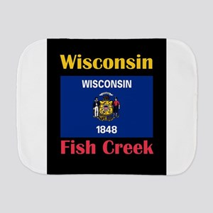 Fish Creek Wisconsin Burp Cloth