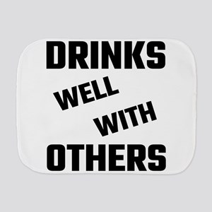 Drinks Well With Others Burp Cloth