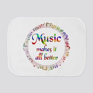 Music Makes it Better Burp Cloth