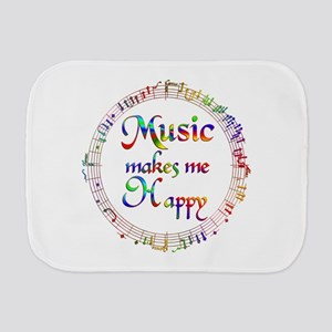 Music makes me Happy Burp Cloth