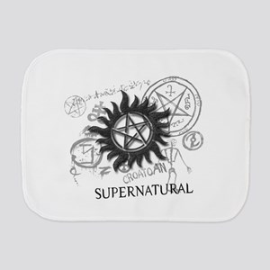 SUPERNATURAL Rusty Metal black Burp Cloth